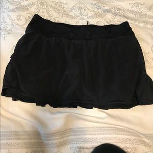 Lululemon Black Pace Setter Ruffled Tennis Skort